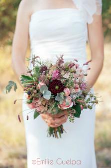 Bouquet champêtre sauvage. Fleuriste mariage Toulouse.