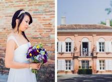 Bouquet coloré pour Elodie. Décoration de mariage Toulouse